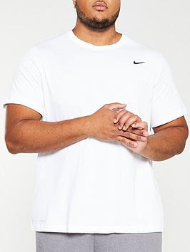 Nike Nike Plus Size Solid Crew Neck T-Shirt - White Picture