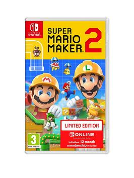 nintendo-switch-super-mario-maker-2-12-month-nintendo-online-subscription-switch