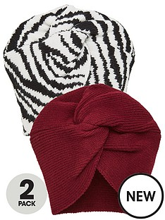 v-by-very-2-pack-turbans-blackburgundy