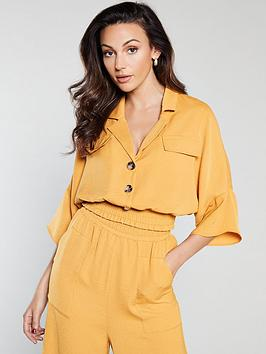 Michelle Keegan Michelle Keegan Shirred Waist Blouse - Mustard Picture