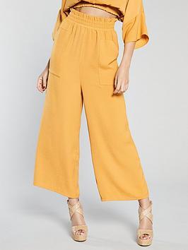 michelle-keegan-wide-leg-culotte-co-ordnbsp--mustard