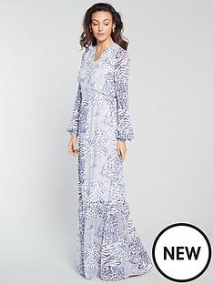 michelle-keegan-wrap-front-printed-maxi-dress