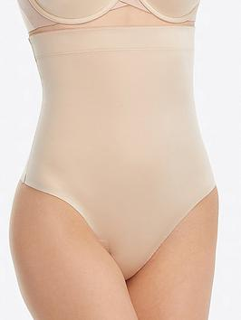 Spanx Spanx Suit Your Fancy High-Waisted Thong - Nude Picture