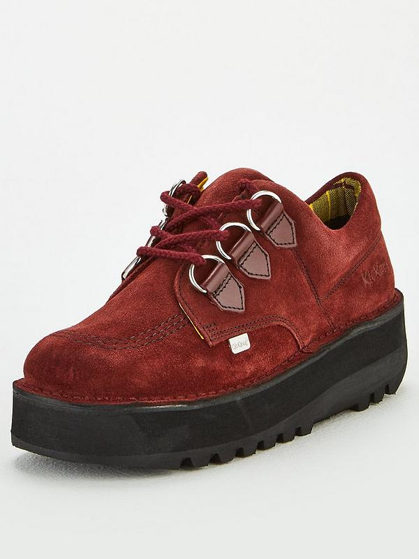 buy uk store latest Kick Lo Creepy Wedge Shoes - Burgundy