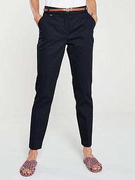 wallis-cigarette-belted-trousers-navy