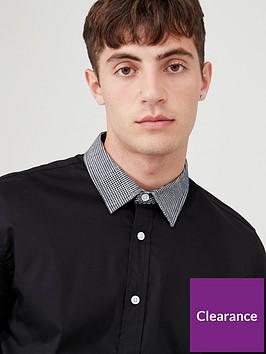 very-man-houndstooth-collar-shirt-black