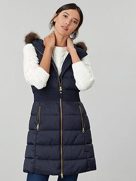 Joules Joules Avebury Longline Padded Gilet - Marine Navy Picture
