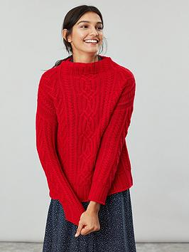 Joules Joules Jamie Cable Knit Jumper - Red Picture
