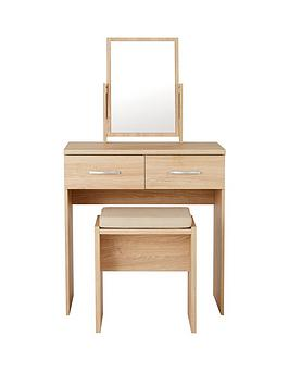 Very Peru Dressing Table, Stool And Mirror Set Picture