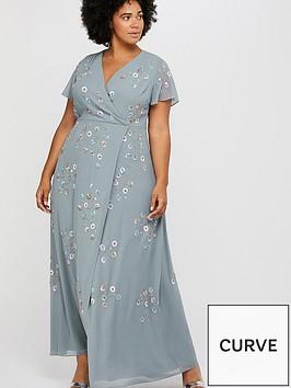 monsoon-curve-ally-embellished-wrap-maxi-dress-grey