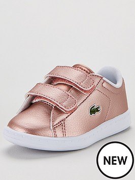 lacoste-infant-carnaby-evo-319-trainers-metallic-pink