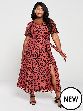25c0f16d9 Monsoon Curve Monsoon Curve Annie Animal Burnout Maxi Dress |  littlewoods.com