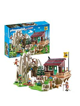 PLAYMOBIL Playmobil Playmobil 9126 Action Rock Climbers With Cabin Picture
