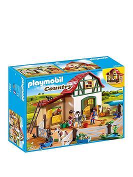 playmobil-playmobil-6927-country-pony-farm-with-2-pony-stalls-and-storage-loft