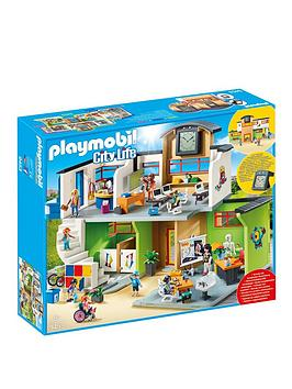 PLAYMOBIL Playmobil Playmobil 9453 City Life Furnished School Building  ... Picture