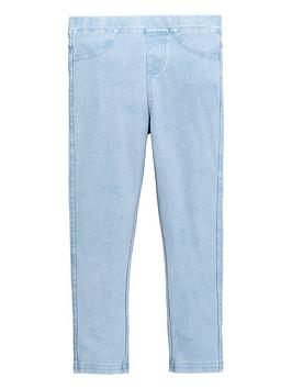 V by Very V By Very Girls Jersey Jeggings - Light Wash Picture