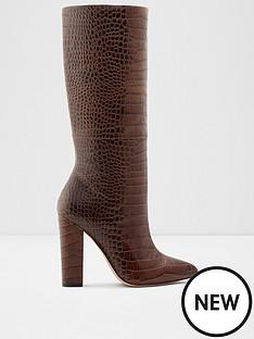 aldo-ibilia-knee-high-reptile-boots-brown