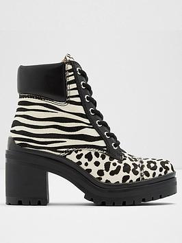 aldo-brania-animal-ankle-boots-whiteblack