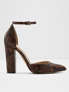 aldo-nicholes-snake-print-heeled-shoes-brown