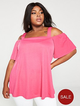 v-by-very-curve-cold-shoulder-strappy-top-hot-pink