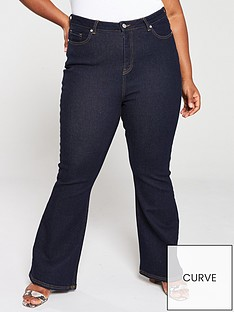 v-by-very-curve-kickflare-jeans-midwash