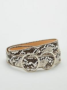 v-by-very-double-circle-buckle-studded-belt-snake-print