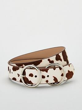 V by Very V By Very Double Circle Buckle Leather Belt Picture