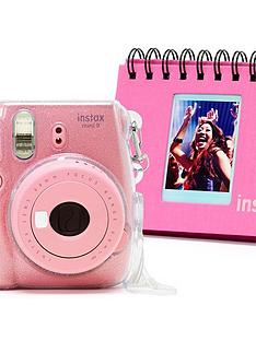fujifilm-instax-fujifilm-instax-mini-9-white-camera-kit-withnbsp10x-macaron-film-glitter-case-amp-flip-album