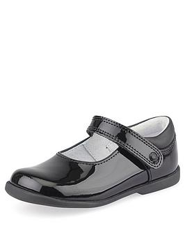 Start-Rite Start-Rite Younger Girls Slide School Shoes - Black Patent Picture