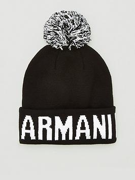 armani-exchange-logo-bobble-beanie-hat