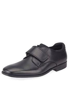 Start-Rite Start-Rite Boys Logic Strap School Shoes - Black Leather Picture