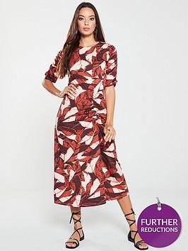 v-by-very-jersey-midi-dress-palm-print