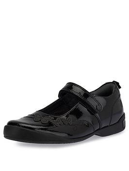 Start-Rite Start-Rite Girls Pump School Shoes - Black Patent Picture