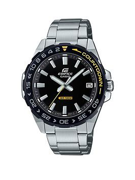 Casio Casio Exclusive Casio Edifice Black And Yellow Detail Dial Stainless  ... Picture