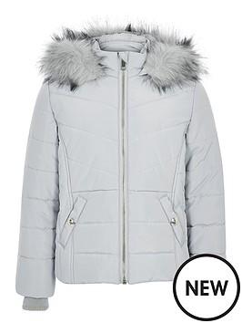 river-island-girls-faux-fur-hood-padded-jacket-grey