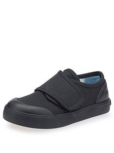 start-rite-boys-skip-strap-school-plimsolls-black-canvas