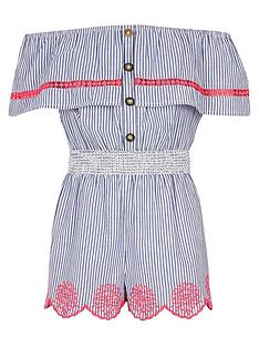 river-island-girls-stripe-bardot-playsuit-blue