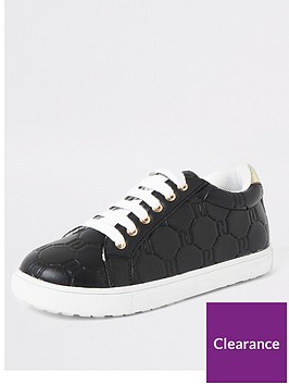 river-island-girls-monogram-lace-up-trainers-black