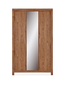 Very Cuba 3 Door Mirrored Wardrobe Picture