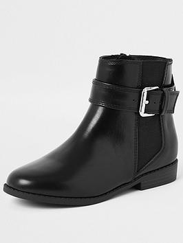 river-island-girls-buckle-boots-black