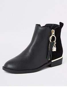 river-island-girls-leather-locket-boots-black