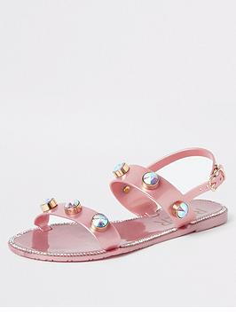 river-island-girls-jewel-jelly-sandals-pink