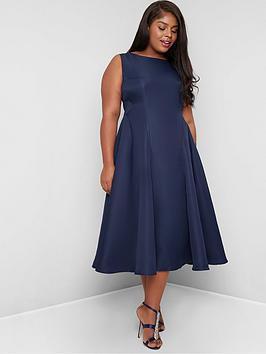 Chi Chi London Curve Chi Chi London Curve Anthea Midi Dress - Navy Picture