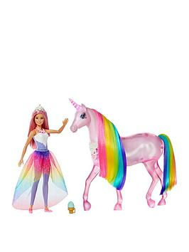 Barbie Barbie Dreamtopia Magical Lights Unicorn With Princess Doll Picture