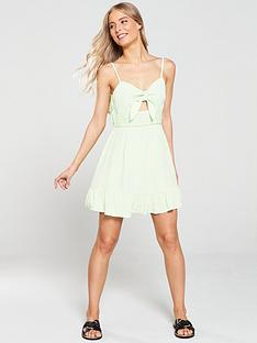 river-island-river-island-knot-front-beach-dress-lime-green