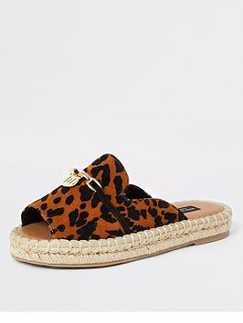 river-island-river-island-wide-fit-espadrille-sandals-leopard