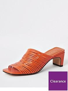 river-island-river-island-multi-strap-mule-sandals-orange