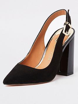 river-island-river-island-slingback-court-shoe-black