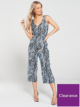 river-island-river-island-zebra-print-plisse-jumpsuit-blue