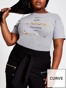 ri-plus-ri-plus-lamour-foil-slogan-t-shirt-grey